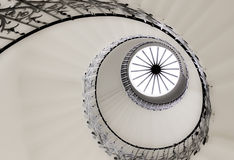 Spiral staircase. Taken from the bottom up Stock Image