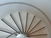 Spiral. Staircase at the Television Tower in Tallinn, looking down Stock Image