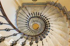 Spiral staircase Tercesi castle Stock Images