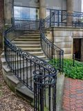 Spiral staircase to old house Cantigny Royalty Free Stock Images