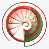 Spiral staircase top view red green swirl Royalty Free Stock Image