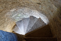 Spiral staircase in the tower Royalty Free Stock Photo