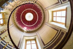 Spiral staircase under the dome stock image