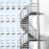 Spiral staircase in urban area Royalty Free Stock Image