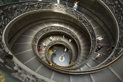 Spiral staircase in Vatican museum. Stock Photos