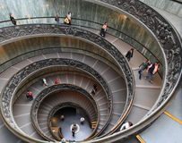 Spiral staircase of Vatican Museum Stock Photography