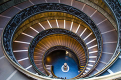 Spiral staircase of the Vatican Museums . Stock Photos