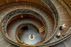Spiral staircase Vatican Rome Stock Photo