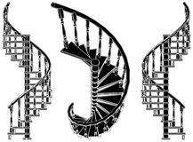 Spiral Staircase Vector 01 Royalty Free Stock Photo