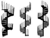 Spiral Staircase Vector 06 Stock Image