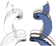 Spiral Staircase Vector Stock Photography