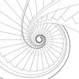 Spiral Staircase Vector Royalty Free Stock Image