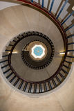 Spiral Staircase. Vintage Aged Spiral Staircase Bottom View Stock Images