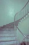 Spiral staircase in vintage color style Royalty Free Stock Photos