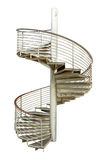 Spiral staircase on white isolate background with clipping path. Royalty Free Stock Photo