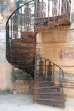 Spiral staircase. A wrought iron spiral staircase, tucked neatly into a corner of Mehrangarh Fort royalty free stock photography