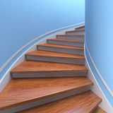 Spiral staircases. 3d Royalty Free Stock Photo