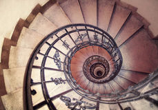 Spiral staircases architectural element of a historic building Royalty Free Stock Photo