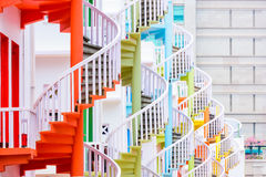 Spiral Staircases of Singapore Royalty Free Stock Images