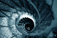 Spiral stairs. A view of the sprial staircase Stock Photos