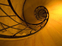 Spiral Stairs. From a Loire Valley castle Royalty Free Stock Photos