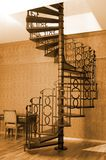 Spiral stairs. Vintage style picture of an old spiral stairs Stock Photo
