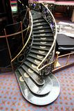 Spiral Stairs. In lobby area of a cruise ship Royalty Free Stock Photos
