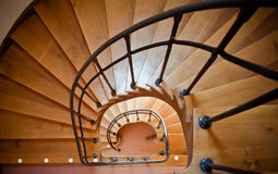 Spiral stairs. Of scandinavian style Stock Images