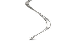 Spiral Stairs. Abstract 3d illustration of spiral stairs. Steel Royalty Free Stock Images