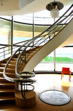 Spiral Stairs. A view of the a 1930 spiral staircase at the De La Warr Pavilion in Bexhill on Sea Stock Photo