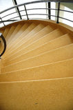Spiral Stairs. A view of the a 1930 spiral staircase at the De La Warr Pavilion in Bexhill on Sea Stock Image