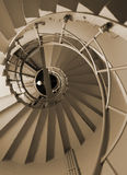 Spiral stairs. Inside the Victory Column in Berlin, Germany Stock Images