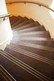 Spiral stairs. Interior spiral stairs seen from above Stock Photography