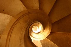 Spiral stairs. Detail of stone spiral stairs Royalty Free Stock Photos
