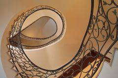 Spiral stairs. Spiral winding stairs Stock Photo