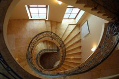Spiral stairs. Spiral winding stairs Stock Image