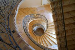 Spiral stairs. Spiral winding stairs Stock Photography