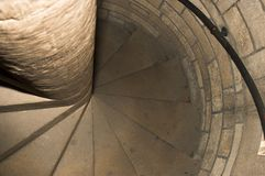 Spiral stairs. In old medieval church tower Royalty Free Stock Photos