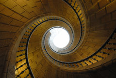 Spiral stairs. Spiral stone stairs in a museum Stock Photo