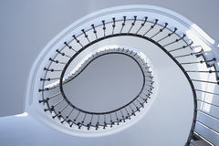 Spiral Stairs. With metall  handrail Royalty Free Stock Images