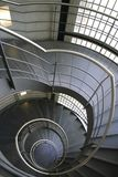 Spiral stairs. Inside building stock photo