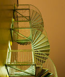 Spiral stairs against the night sky Stock Photos