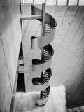 Spiral Stairs. Black and white image of Industrial Spiral Stairs Royalty Free Stock Photo