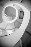 Spiral stairs, black and white Royalty Free Stock Photos