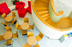 Spiral stairs cafe Stock Photos