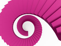 Spiral stairs concept rendered Stock Photos