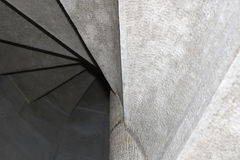Spiral stairs from down. In a building Stock Photo