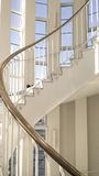 Spiral stairs. Frontal point of view. Royalty Free Stock Images