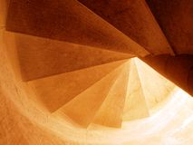Spiral stairs going up Royalty Free Stock Images