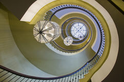 Spiral stairs. Image of spiral stairs, building interior Royalty Free Stock Photo